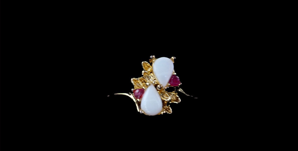 18K Ruby and Opal Ring