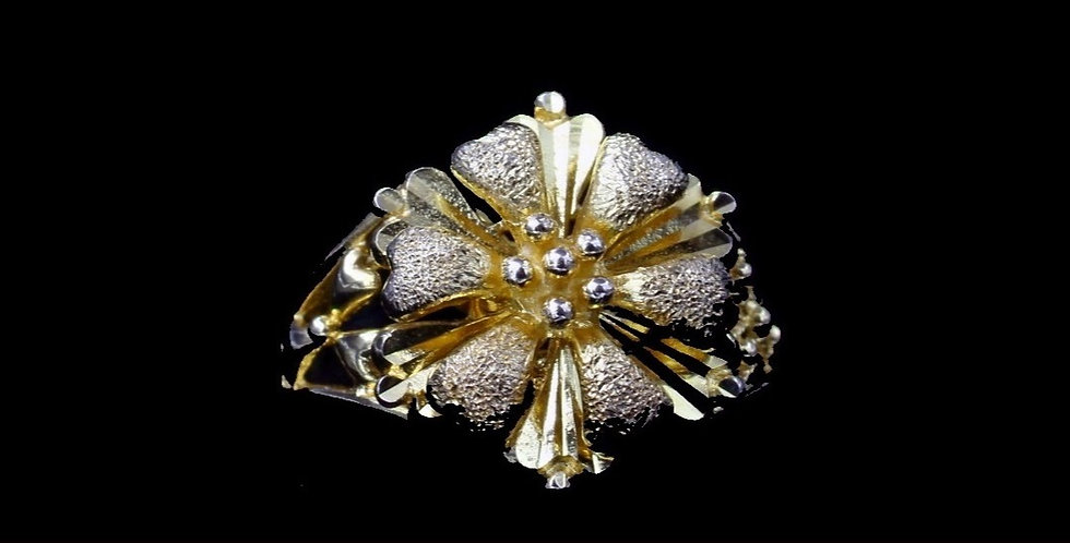 18K Yellow Gold Floral Ring