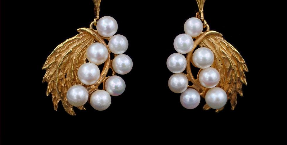 14K Vintage Pearl Earrings