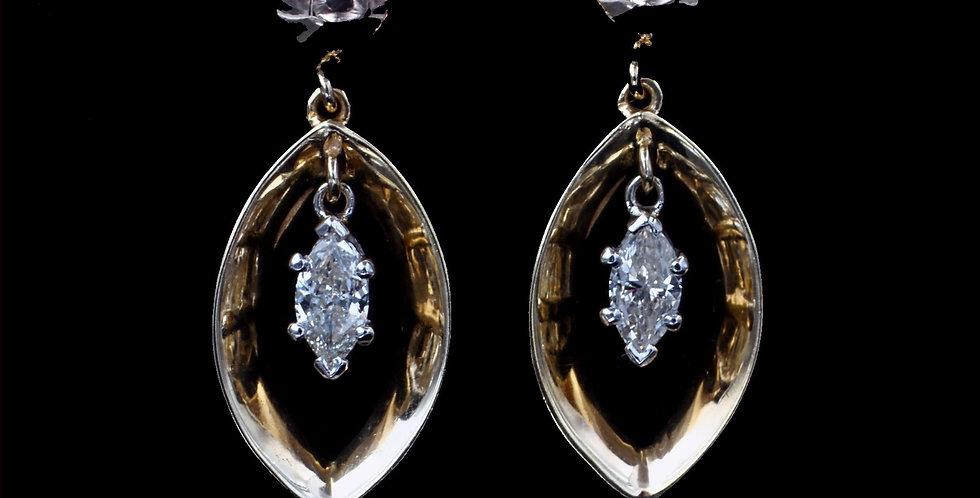 14K .80 Carat Total Weight Diamond Earrings