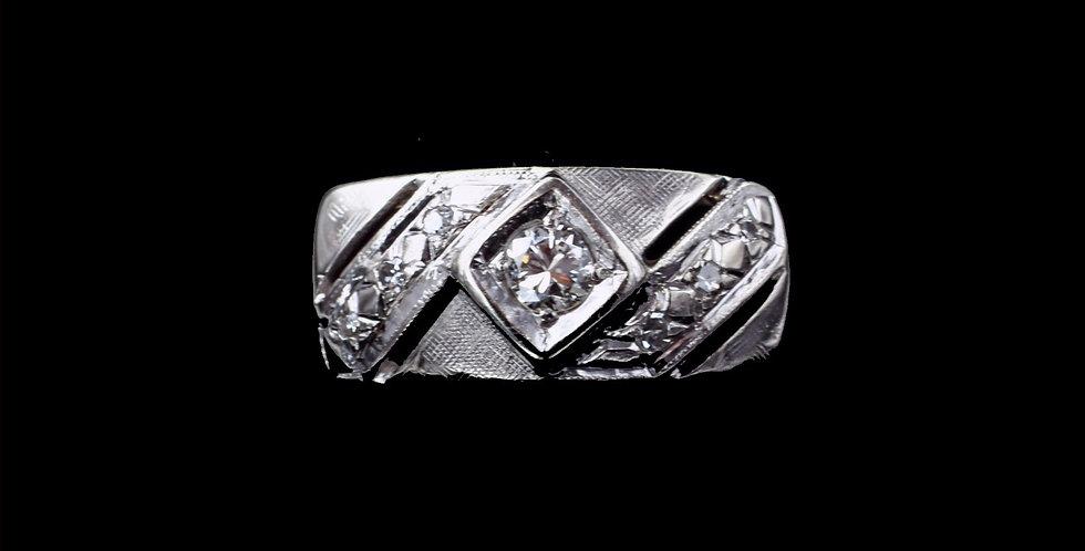 14K Two Tone Vintage .20 Carat Diamond Ring