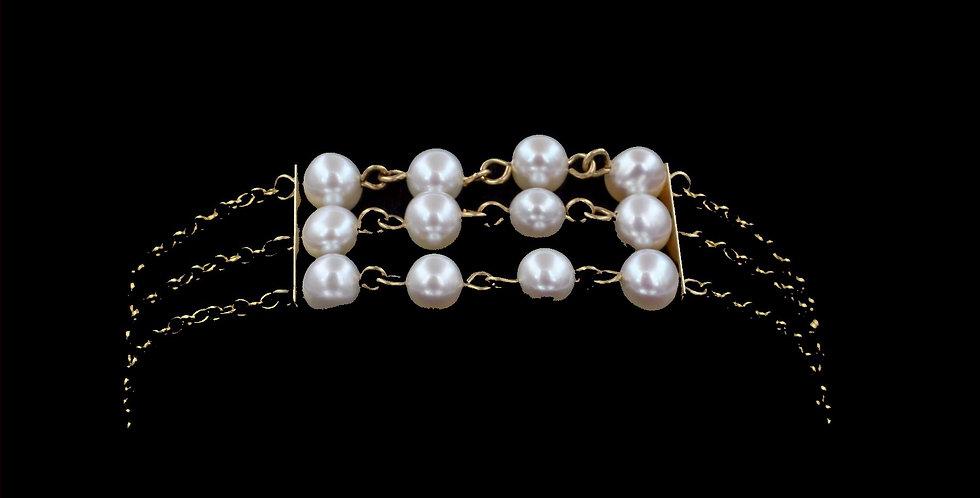 14K Vintage Pearl Bracelet