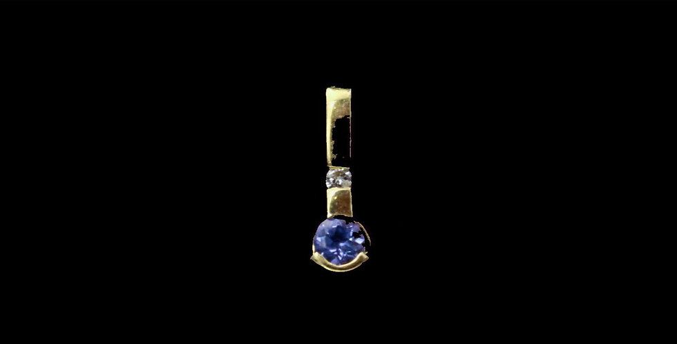 14K Tanzanite & Diamond Pendant