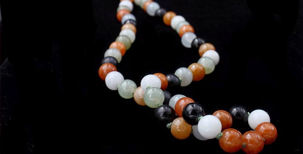 14K Assorted Jades Necklace