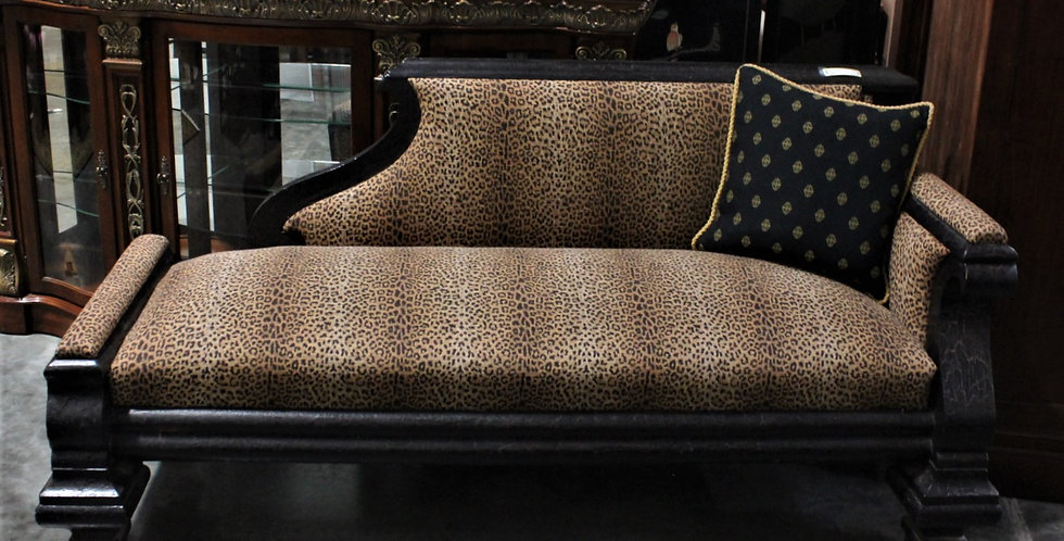 Leopard Print Chaise