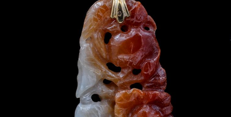 18K Carved Jadeite Necklace
