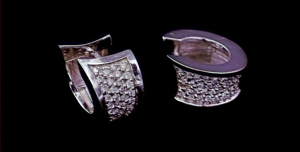18K .75 Carat Total Weight Diamond Earrings