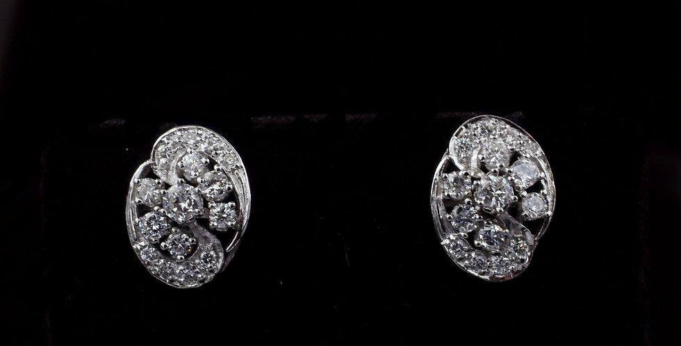 14Kwg .80ct twt. Diamond Earrings