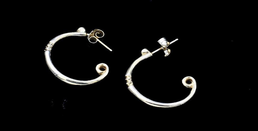 14K Pierced Hoop Earrings