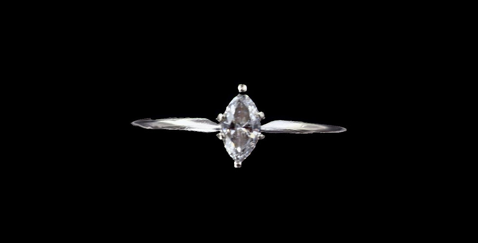 14K .25 Carat Marquise Cut Diamond Ring