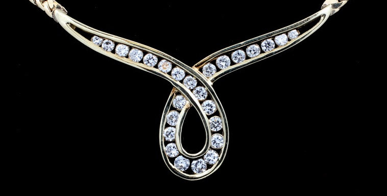 14k Yellow Gold 1.00 ct twt Necklace