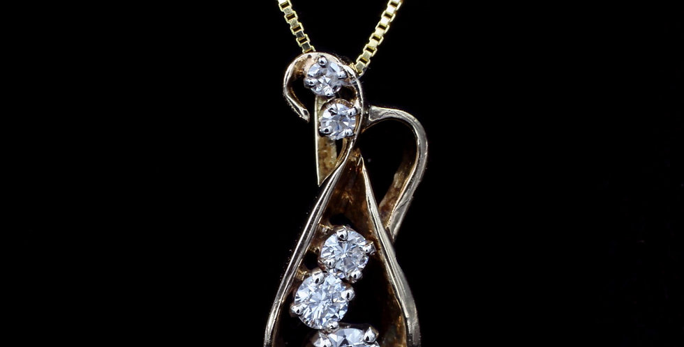 14K .50ct twt. Diamond Necklace