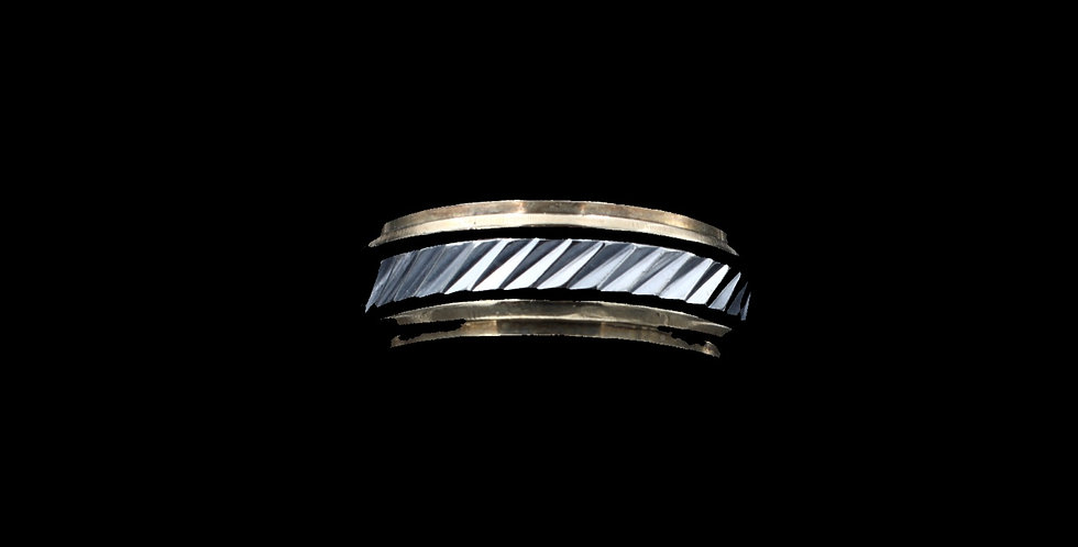 14K White & Yellow Gold Band or Ring