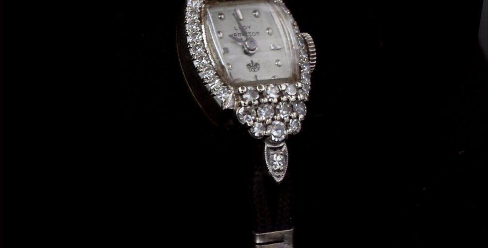 14K Hamilton Diamond Watch with Cord band