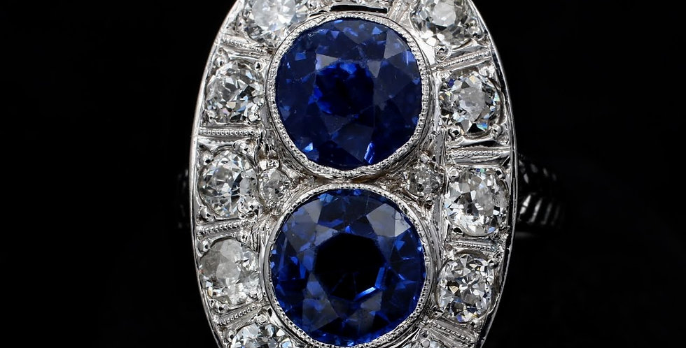 Double Decker Sapphire Ring