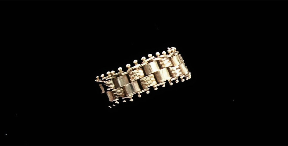 14K Link Style Ring