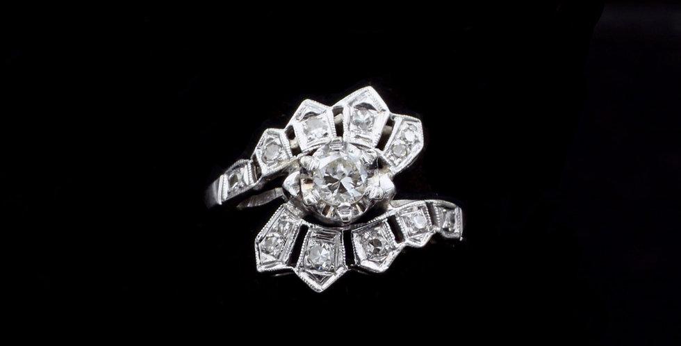 14K .40ct twt. Vintage Diamond Ring