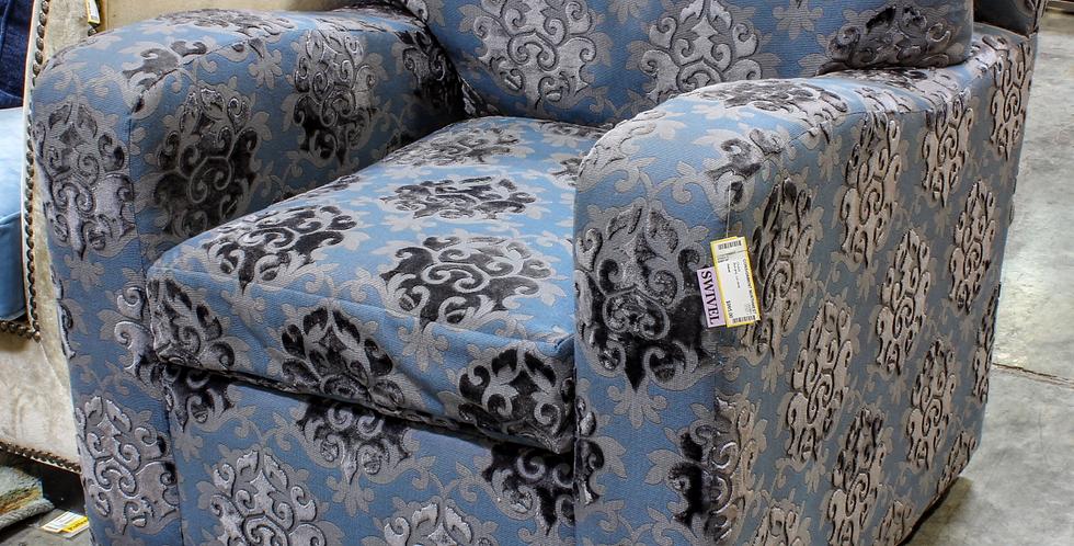 Cut Velvet Swivel Chair