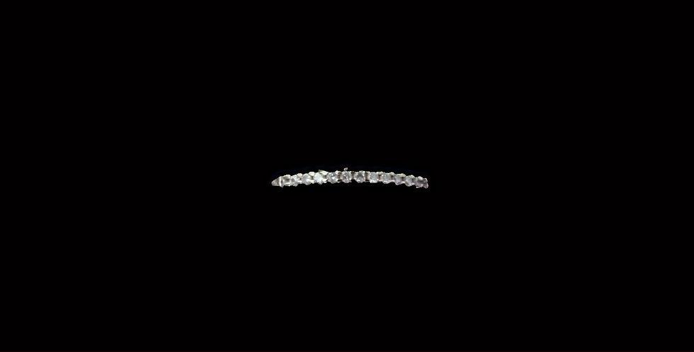 14K White Gold .20 Carat Total Weight Band Ring