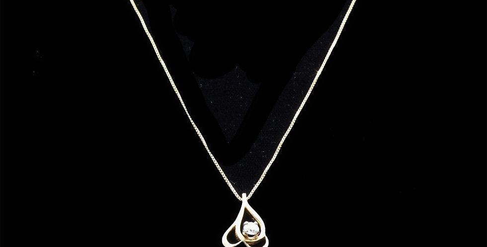 14K .15 Carat Vintage Diamond Necklace