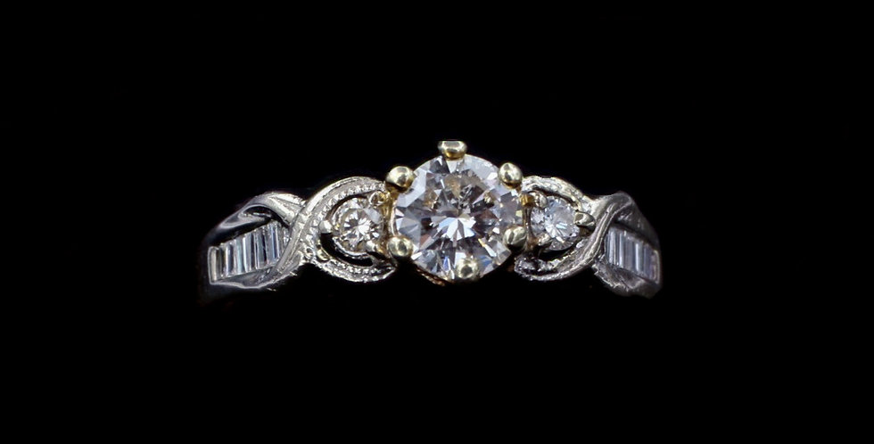 14K .50 & .25ct Diamond Ring