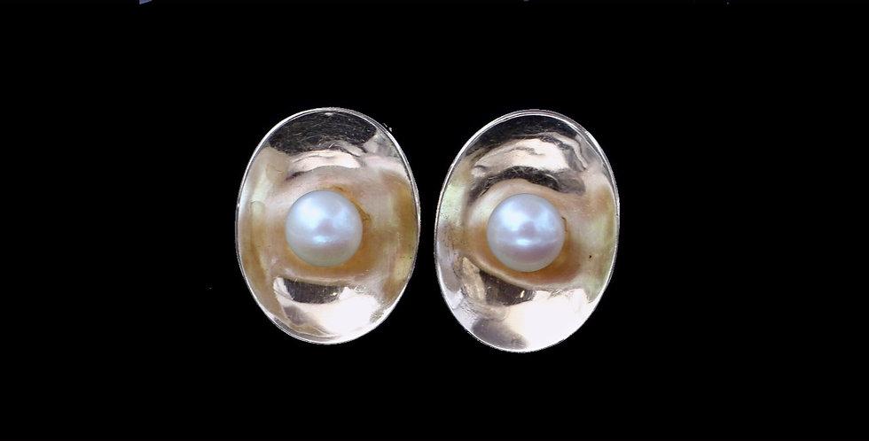 14K Yellow Gold Pearl Earings