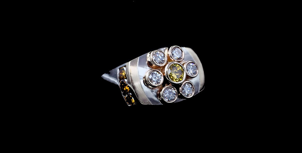14K Yellow & White Gold 1.25 Carat Total Weight Ring