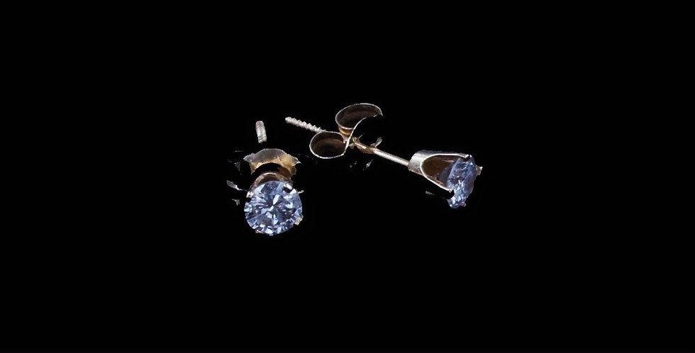 14K .30 Carat Total Weight Diamond Earrings
