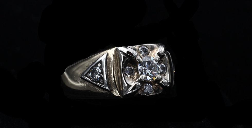 14K Yellow Gold Vintage .55 Carat Diamond Ring