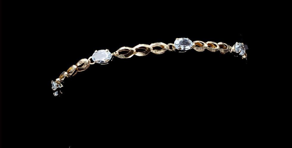 10K Yellow Gold Aquamarine Bracelet