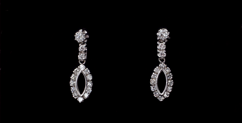 14K wg .50ct twt. Diamond Earrings