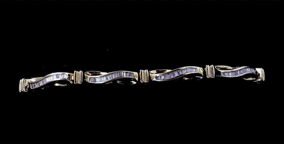 10K Yellow Gold 1.00 Carat Diamond Bracelet