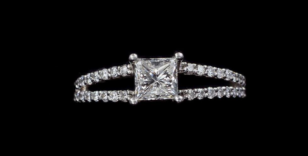 Platinum .75 & .50ct Diamond Ring