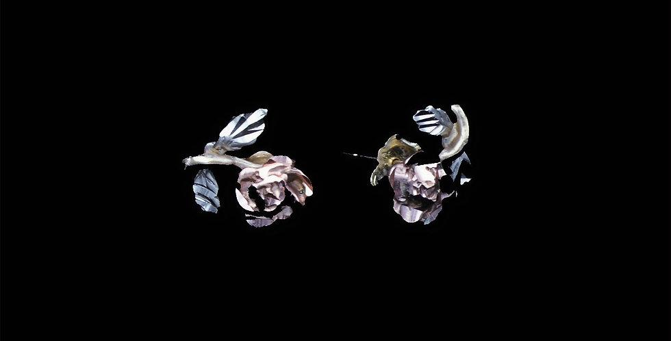 14K Black Hills Gold Rose Earrings