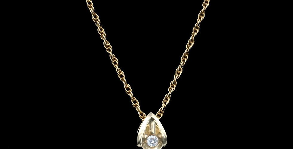 14K Yellow Gold .05 Carat Diamond Necklace