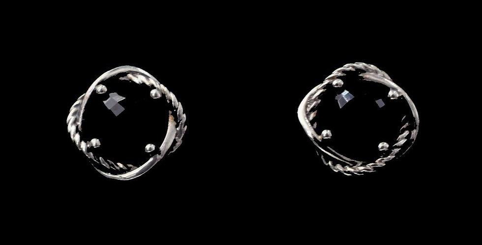 David Yurman Sterling Silver Onyx Earrings