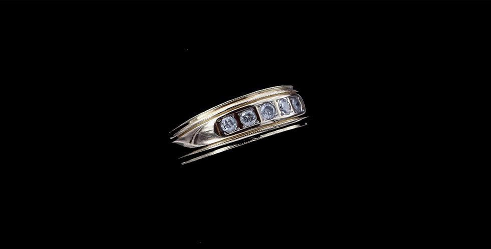 14K Yellow Gold .20 Carat Total Weight Diamond Band/Ring