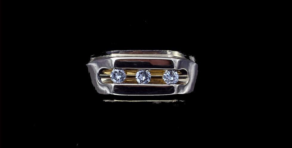 14K Yellow Gold .30 Carat Total Weight Diamond Ring