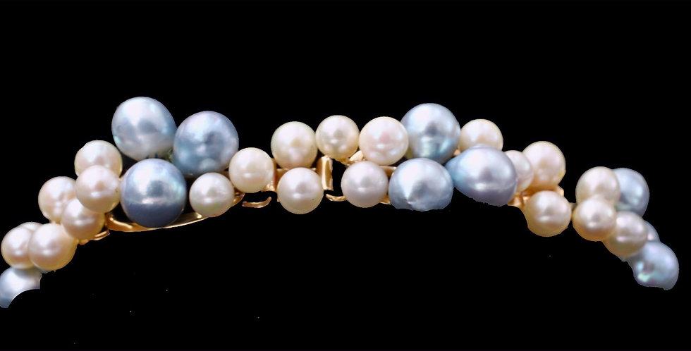 14k Yellow Gold Hawaiian Mings Pearl Bracelet