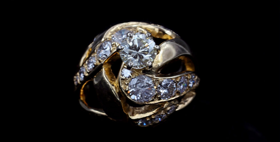 14K 3.62ct twt. Diamond Ring