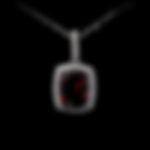 14K Garnet & Diamond Necklace