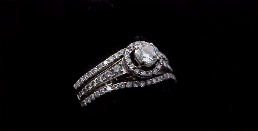 14K White Gold .40 & .80 Carat Diamond Ring Set