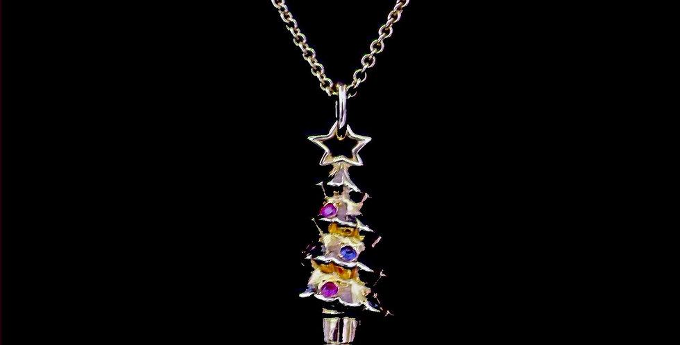 18K Tiffany Christmas Tree Necklace
