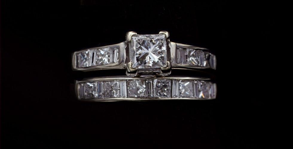 14K .38 & .50ct Diamond Ring Set