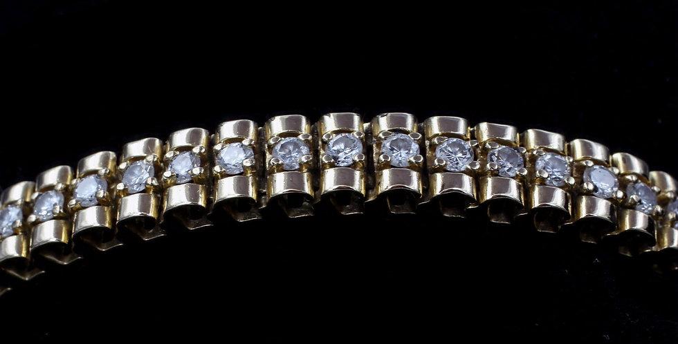 14K .50ct twt. Diamond Bracelet