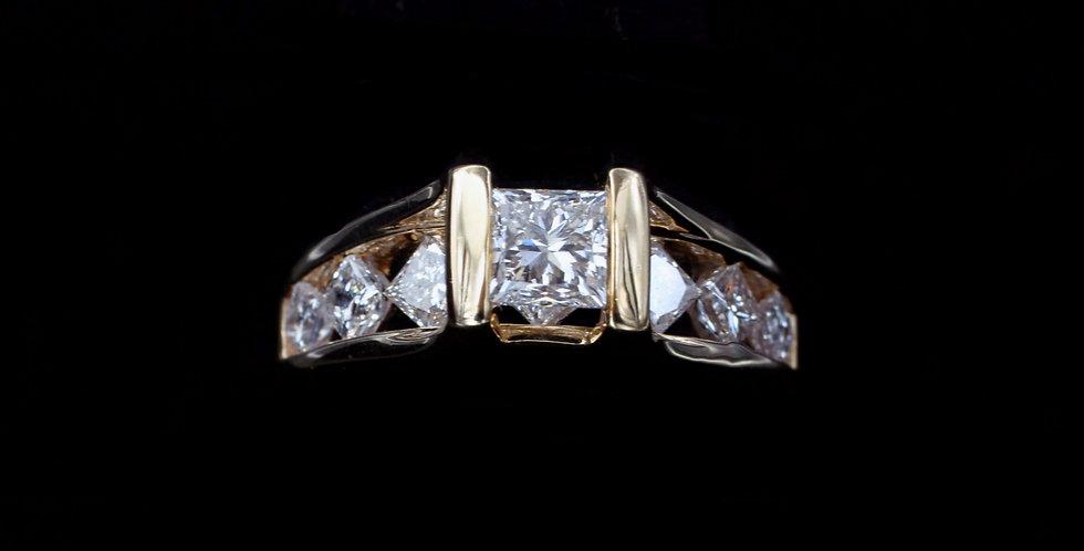 14K .67 & 1.11ct Diamond Ring