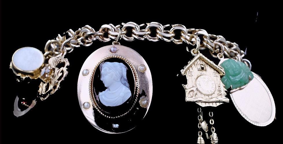 14K Vintage Charm Bracelet