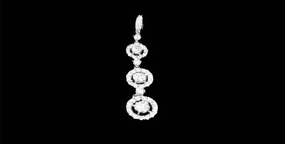 18K .75 Carat Total Weight Diamond Pendant