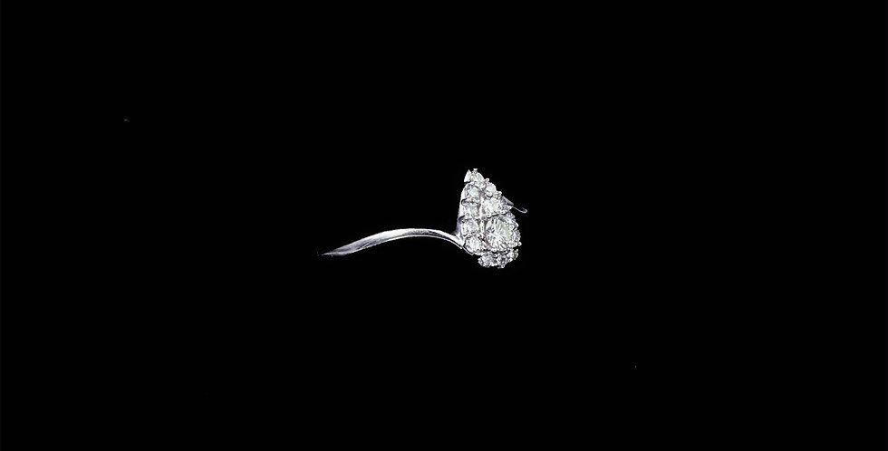 14K White Gold .25 Carat Diamond Ring
