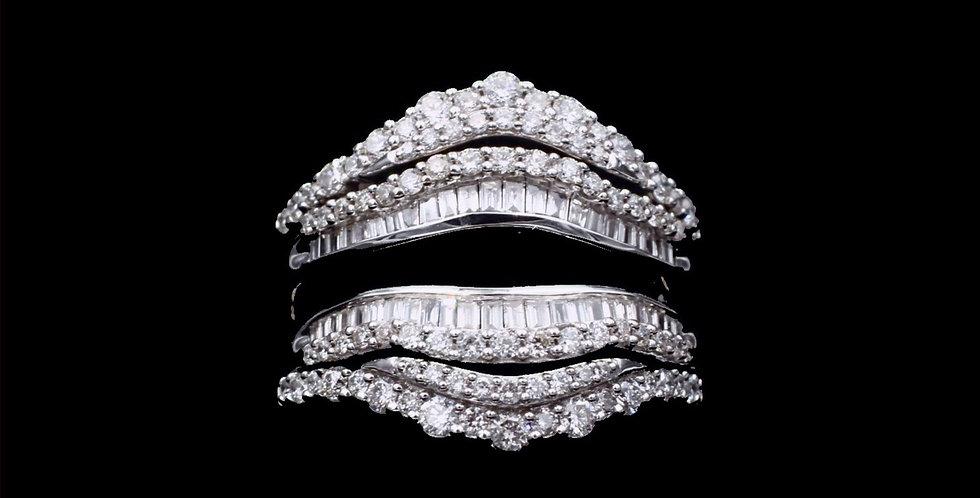 14K 4.00 Carat Total Weight Diamond Jacket Ring